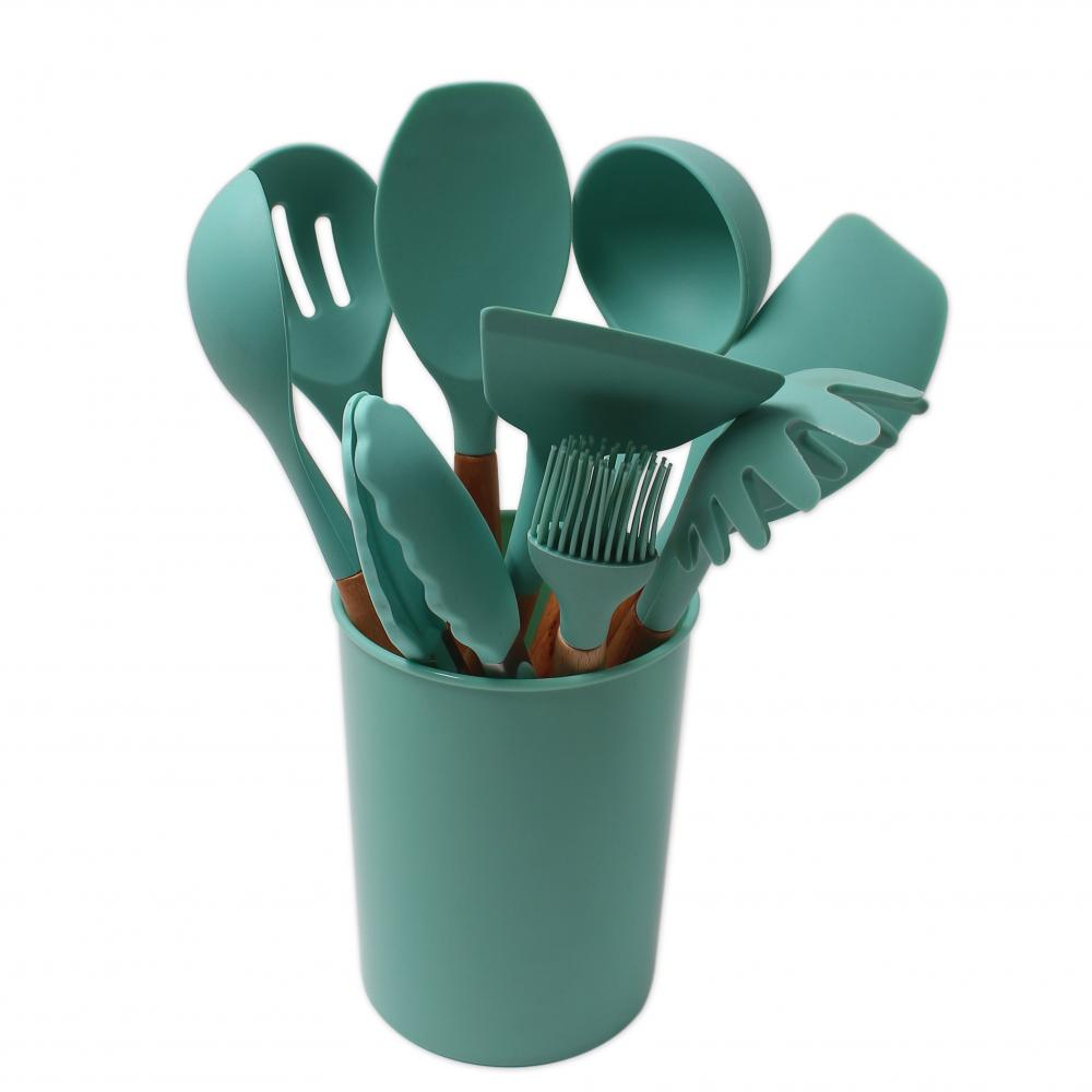 Silicone Utensils Set With Holder
