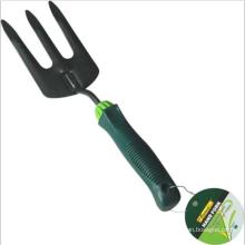 Ferramentas de jardim aço jardim Prong garfo com alça resistente a choque para jardinagem