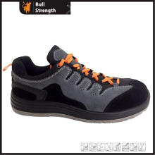 Dual Density PU Outsole Safety Shoe with Suede Leather (SN5427)