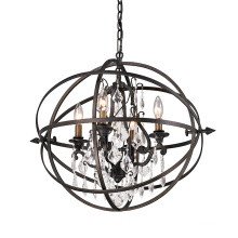 Delicate modern style small size Simple round indoor lighting crystal chandelier