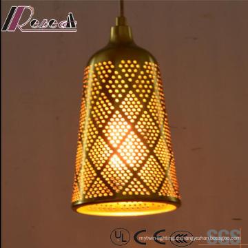 Estilo chino originalidad hueco redondo iluminación colgante con barra