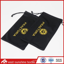 Wholesale Offset Printed Microfiber Drawstring Cellphone Pouch