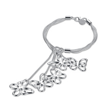 Silber überzog Armband-Schmetterlings-Form-hängende Frauen-Armband-heiße Verkaufs-Art- und Weiseschmucksachen