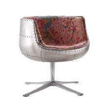 Современный оригинальный промышленных стиле вращающееся кресло один стул алюминия Кубок стул