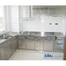 Gabinete de cocina de acero inoxidable