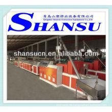Kunststoff-Profil-Extrusion-Maschine (PP/PE/PVC + Holz-Pulver)