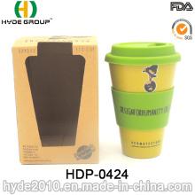 Copo de fibra de bambu Eco-Amigável à moda resistente ao calor (HDP-0424)