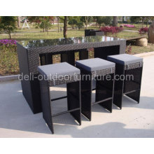 Outdoor Wicker High Dining Poly Rattan Bar Set