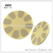 Diamond fiber polishing pads of high gloss marble, granite polishing