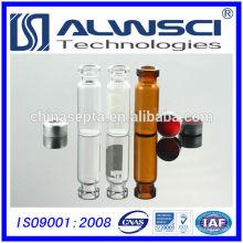 Fabricação de frasco de vidro transparente de 1.5ML com tampas de crimpagem, qualidade Agilent