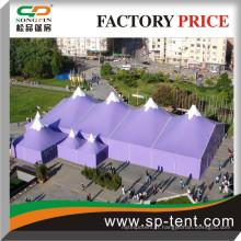 High top Evénements d'hiver en plein air tentes de fête en couleur imprimée mesurant 20m et 40m de long avec plusieurs tentes de pagodes