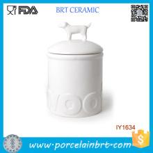 Hot Sale Simple White Animal Bottle Ceramic Jar