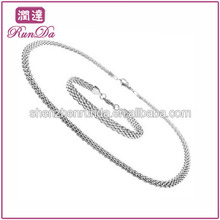 Latest Design Stainless Steel Mesh Link Bridal Fashion Wedding Jewelry Set