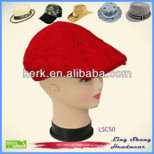 LSC50 Ningbo Lingshang 100% Cotton unique winter promotional custom hats and caps
