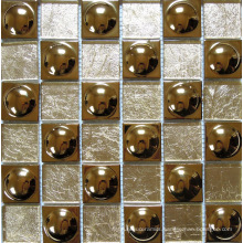 Glass Mix Metal Mosaic Tile (SM242)