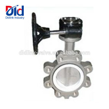 Solidwork Stainless Steel Motorized Viton Seat Wafer Full Lug Butterfly Valve Specification Sheet