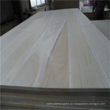 Tábuas de madeira maciça tipo Paulownia Wood Price