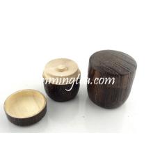 Caixa de armazenamento de madeira redonda