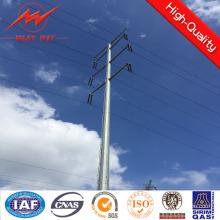 Steel Utility Pole para línea de transmisión eléctrica de 110kv