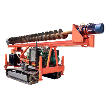Hydraulic water drilling rig long spiral folding driver