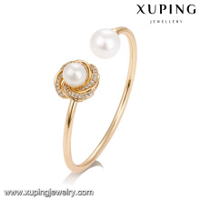 51739 Manufacture sea pearl jewelry Copper alloy fashion bangle bracelet for sale