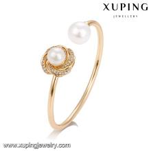 51739 gros plaqué or bijoux, mode perle bracelet pour les femmes