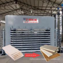 2021 new YUJIE melamine formica hot press machine on sale