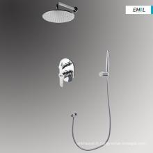 Ensemble de mélangeur de robinets de douche muraux pour salle de bain