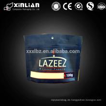 Tiefdruck Druck bis Tabakblätter Verpackung mit Reißverschluss