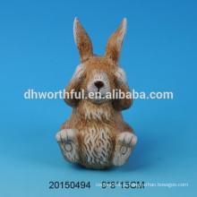 Presente de Páscoa cutely decoração de cerâmica de coelho