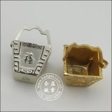 Cestas de ouro e prata, decoração personalizada (GZHY-BJ-010)