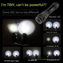 Hochleistungs-wiederaufladbare Tauch-Blitzlicht mit U2 Cree LED