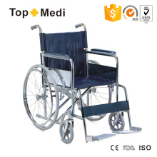 Günstiger leichter manueller Stahlrollstuhl für ältere Menschen