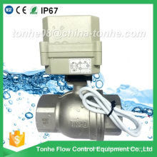 "2 Way Dn40 1 1/2"" Stainless Steel Ss304 Electric Ball Motorized Valve"