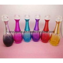 Botella de spray de perfume de vidrio de colores