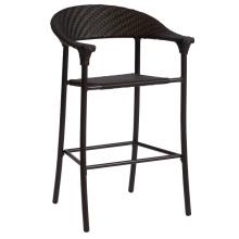 Tamborete de cadeira de jardim exterior vime móveis Rattan Bar Patio