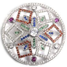 Moda Micro Pave Fittings hebilla cierre accesorio para joyas collar DIY