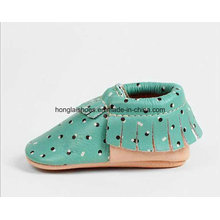 Leather Tassels Baby Shoes 02