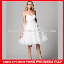 HC4277 The Whole Sale A Line Sleeveless Sweetheart Neckline Crystal Diamond Flowers Skirt White Organza Fluffy Wedding Dresses