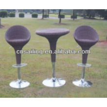 Popular Patio Waterproof modern rattan bar stool