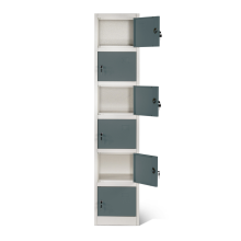 6 Tier Metal Lockers Mini Box for Staff