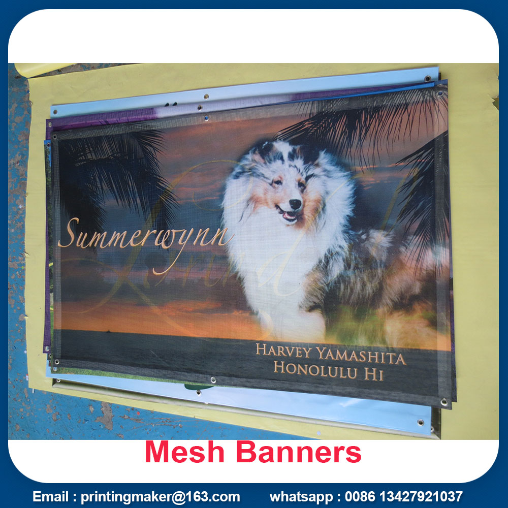 outdoor fence mesh banner