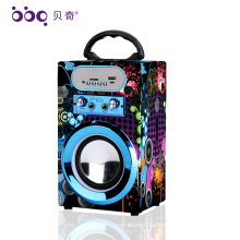 Newest Stereo wireless good mini usb fm radio car shape blueooth speaker for Playback Media