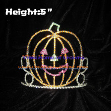 Pumpkin Halloween Crowns with God Crystal Rhinestone