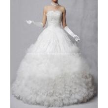 Vestido princesa cariño piso-longitud del cordón Oraganza con volantes vestido de novia