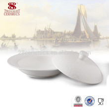 China manufactures of porcelain microwave big soup bowl for soup