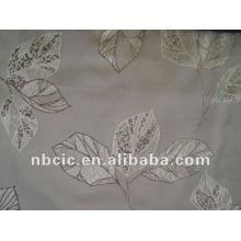 Jacquard cortina tecido feito de poliéster 100%