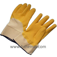 Rough Latex Half Dipped Grip Working Guant Chine