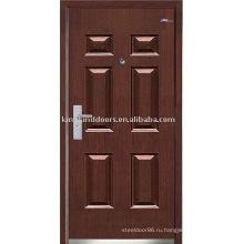 Сильный стали безопасности двери (JKD-234) стали древесины наружной двери для бронированную дверь дизайн