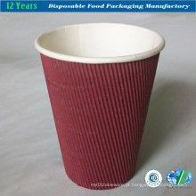 Copo de papel ondulado de papel de parede de grau alimentar